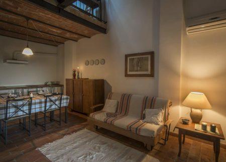 Soggiorno Appartamento Maghino casa vacanze Le Fornaci Arezzo