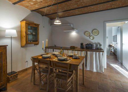 Dettaglio cucina appartamento Bellino, casa vacanze Le Fornaci Arezzo