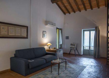 Dettaglio soggiorno appartamento Bellino, casa vacanze Le Fornaci Arezzo