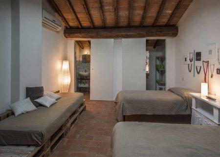 Dettaglio camera da letto appartamento Catola casa vacanze Le Fornaci Arezzo