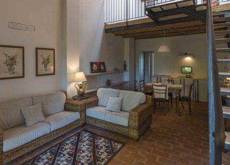 Dettaglio sala da pranzo appartamento Dondo, casa vacanze Le Fornaci Arezzo