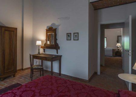 Dettaglio camera da letto appartamento Dondo, casa vacanze Le Fornaci Arezzo
