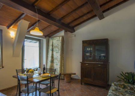 Soggiorno dettaglio appartamento Giambardino Le Fornaci Arezzo