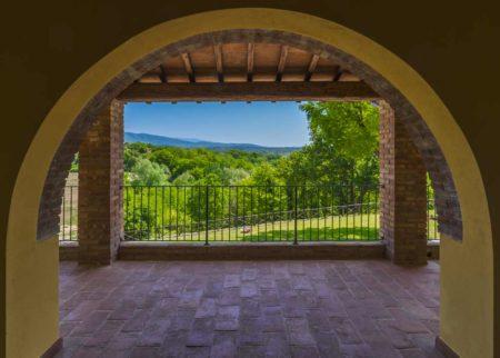 Portico della casa vacanze Le Fornaci Arezzo