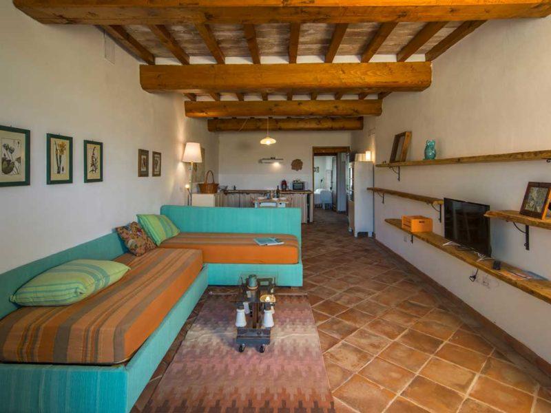 Soggiorno cucina appartamento Lollo casa vacanze Le Fornaci Arezzo
