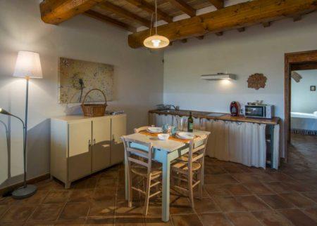 Dettaglio cucina appartamento Lollo casa vacanze Le Fornaci Arezzo