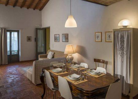 Sala da pranzo appartamento Nanni, casa vacanze Le Fornaci Arezzo