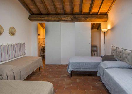Camera da letto appartamento Nanni, casa vacanze Le Fornaci Arezzo