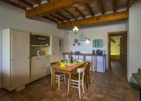 Dettaglio cucina appartamento Roggiola, casa vacanze Le Fornaci Arezzo