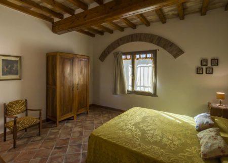 Dettaglio camera da letto appartamento Roggiola, casa vacanze Le Fornaci Arezzo
