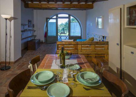 Dettaglio soggiorno appartamento Roggiola, casa vacanze Le Fornaci Arezzo