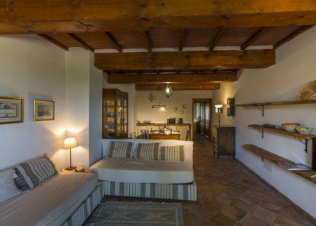 Dettaglio soggiorno appartamento Zi Toni casa vacanze Le Fornaci Arezzo
