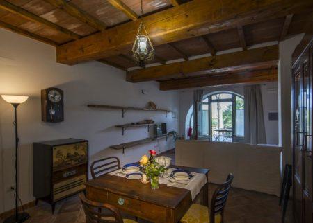 Dettaglio cucina soggiorno appartamento Zi Toni casa vacanze Le Fornaci Arezzo