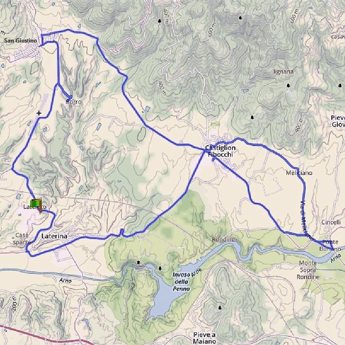itinerari-bici1 paesaggistico - casa vacanze Le Fornaci Arezzo