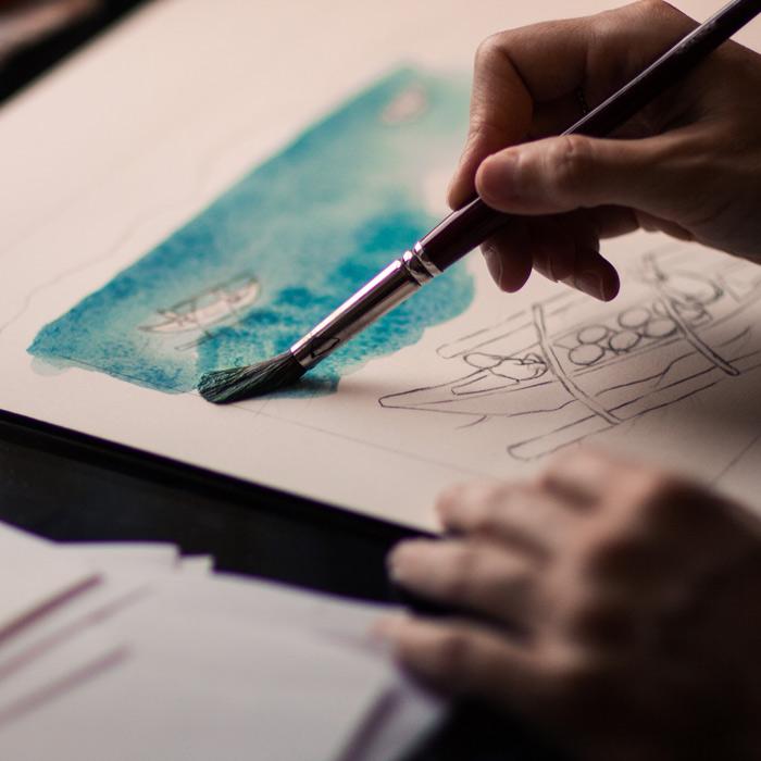 Corso di pittura per gli ospiti della casa vacanze Le Fornaci
